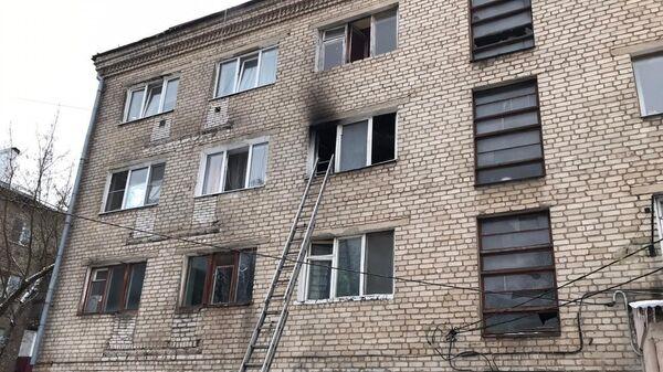 Пожар в многоквартирном доме в городском округе Орехово-Зуево