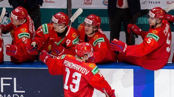 Игрок молодежной сборной России по хоккею Василий Пономарев
