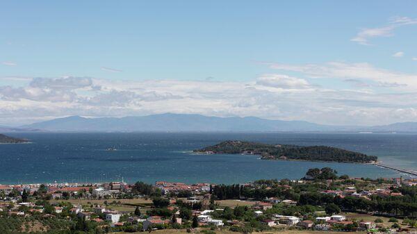 Панорамный вид на город Урла в турецкой провинции Измир