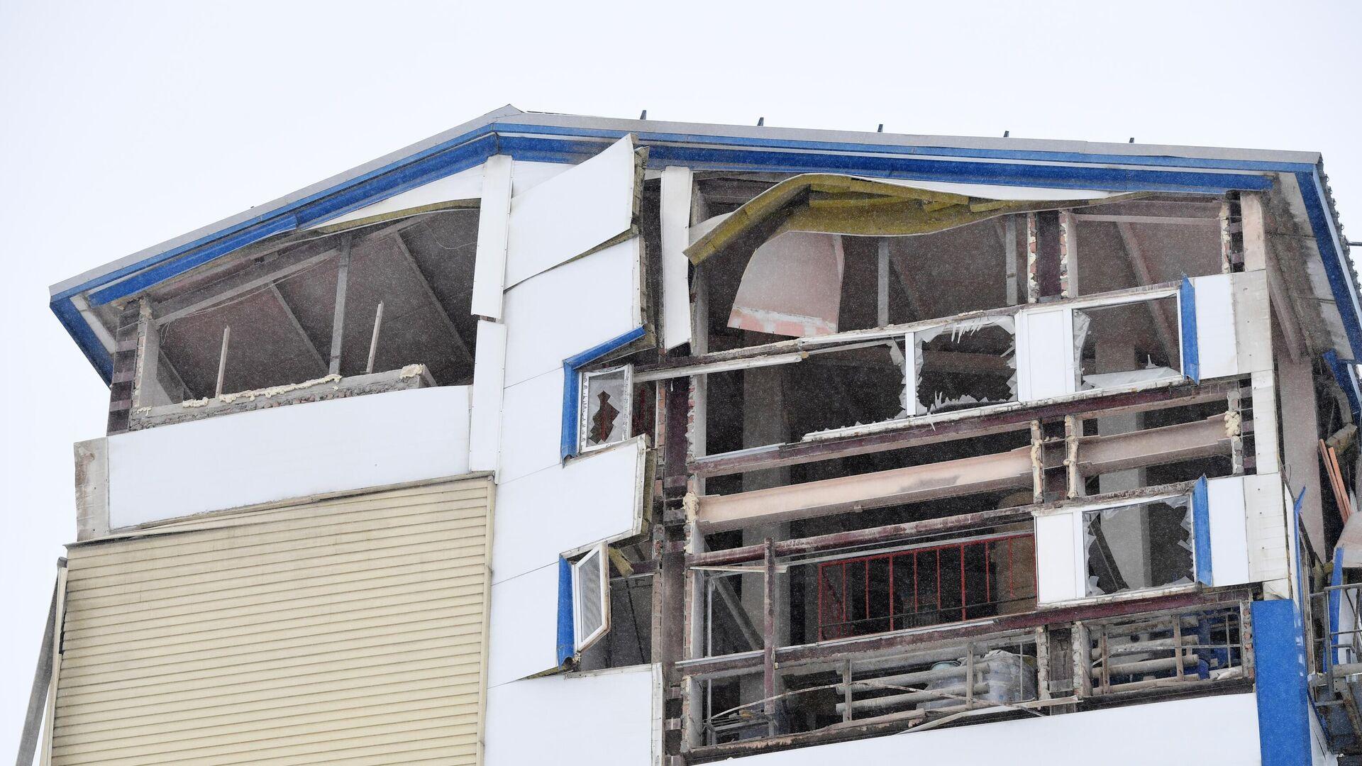 Производственное здание частично обрушилось в Новосибирске - РИА Новости, 1920, 11.01.2021