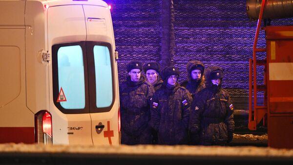 На месте ДТП с военными автобусами в Подмосковье