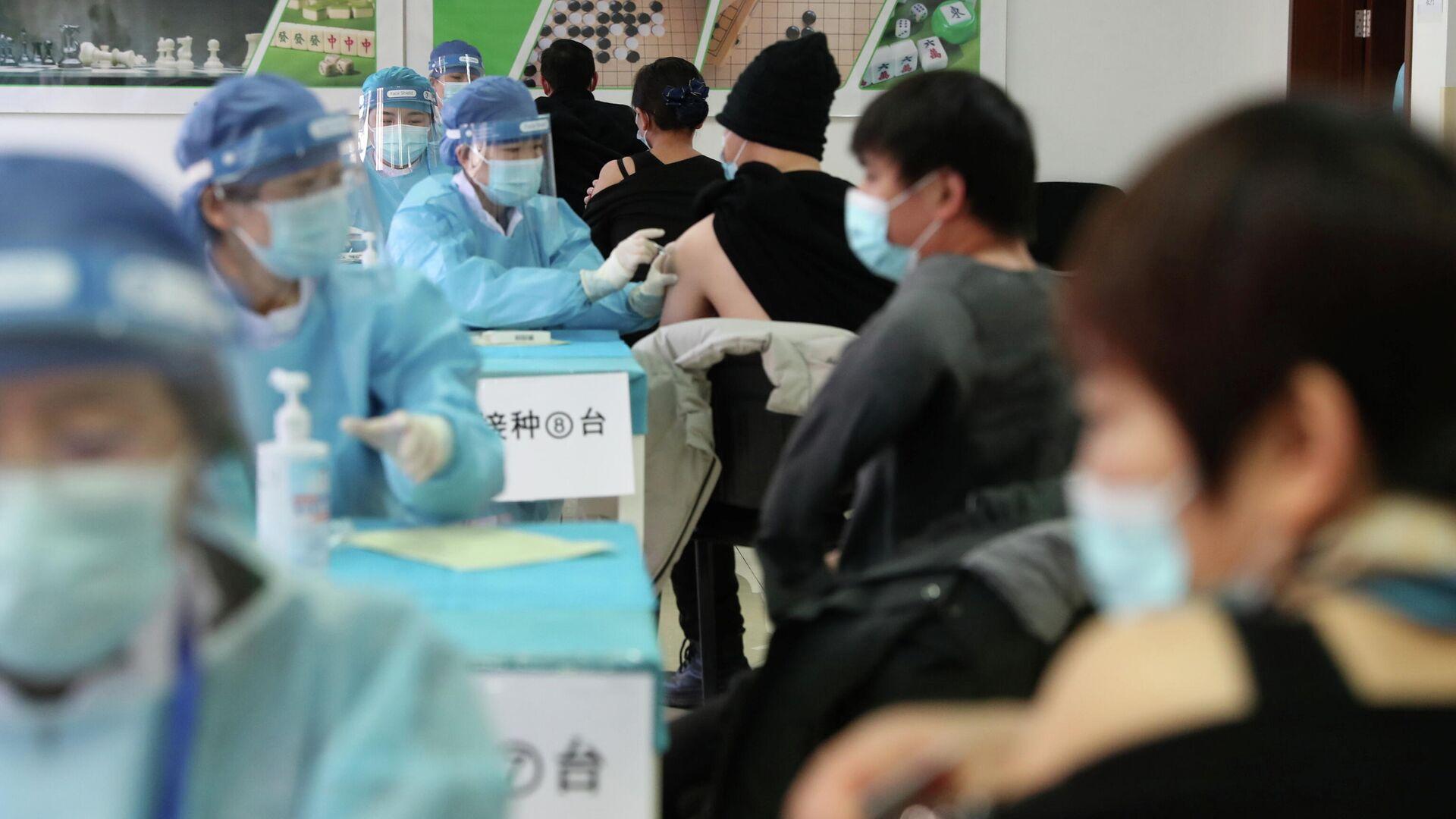 Вакцинация от COVID-19 в Пекине, Китай - РИА Новости, 1920, 03.02.2021
