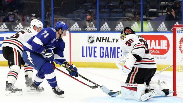 Игровой момент матча НХЛ  Тампа Бэй Лайтнинг - Чикаго Блэкхокс