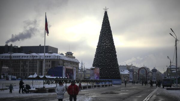 Новогодняя елка на площади Ленина в Туле