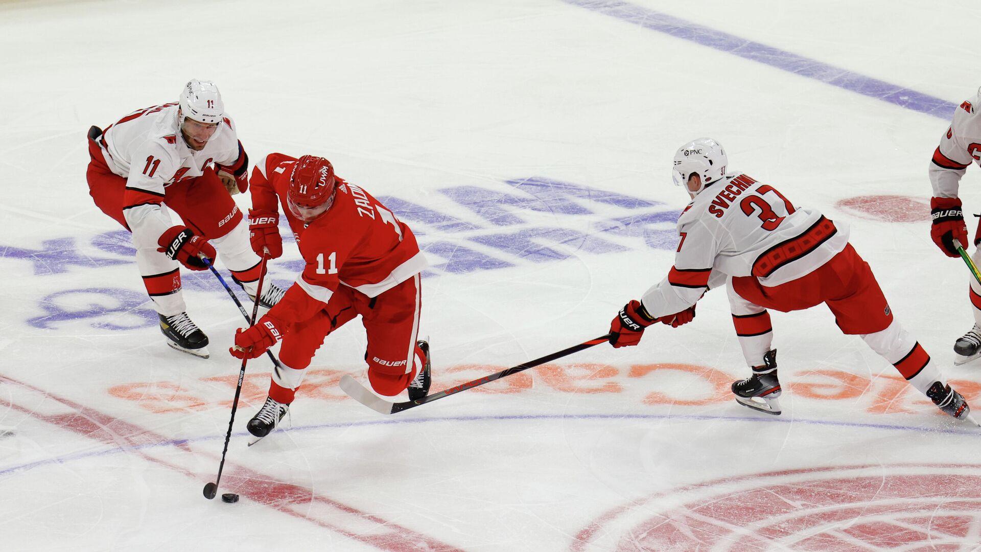 Матч НХЛ между командами Каролина Харрикейнз и Детройт Ред Уингз - РИА Новости, 1920, 15.01.2021