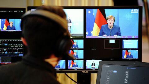 Выступление канцлера Германии Ангелы Меркель в Бундестаге