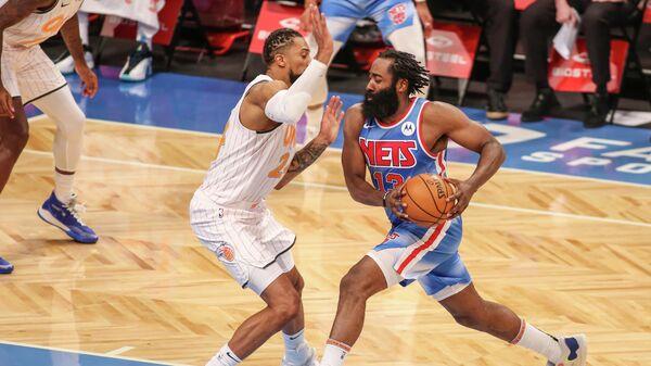 Джеймс Харден в дебютном матче НБА за Бруклин Нетс