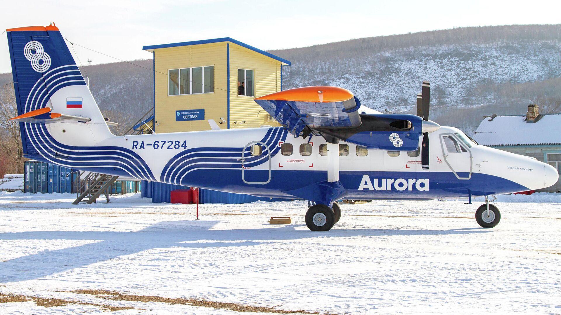 Самолет DHC-6 авиакомпании Аврора - РИА Новости, 1920, 18.01.2021