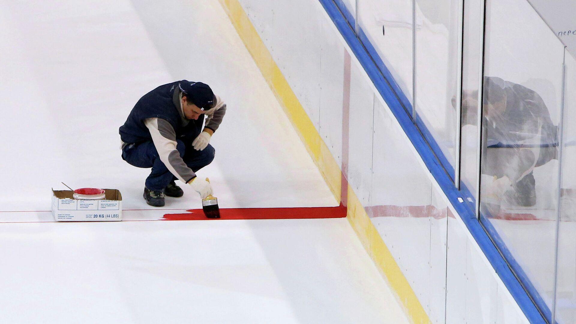 Подготовка к проведению Чемпионата мира по хоккею в Минске - РИА Новости, 1920, 19.01.2021