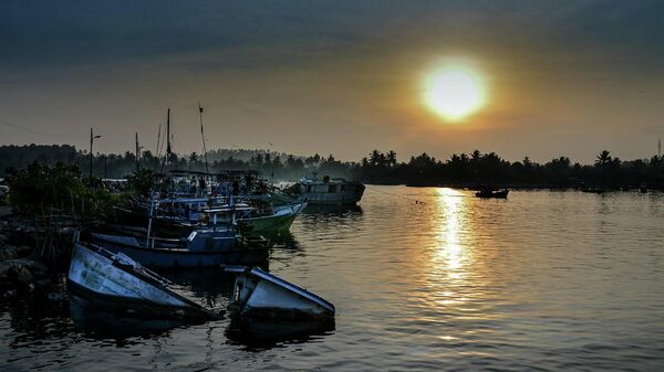 Гавань на острове Шри-Ланка
