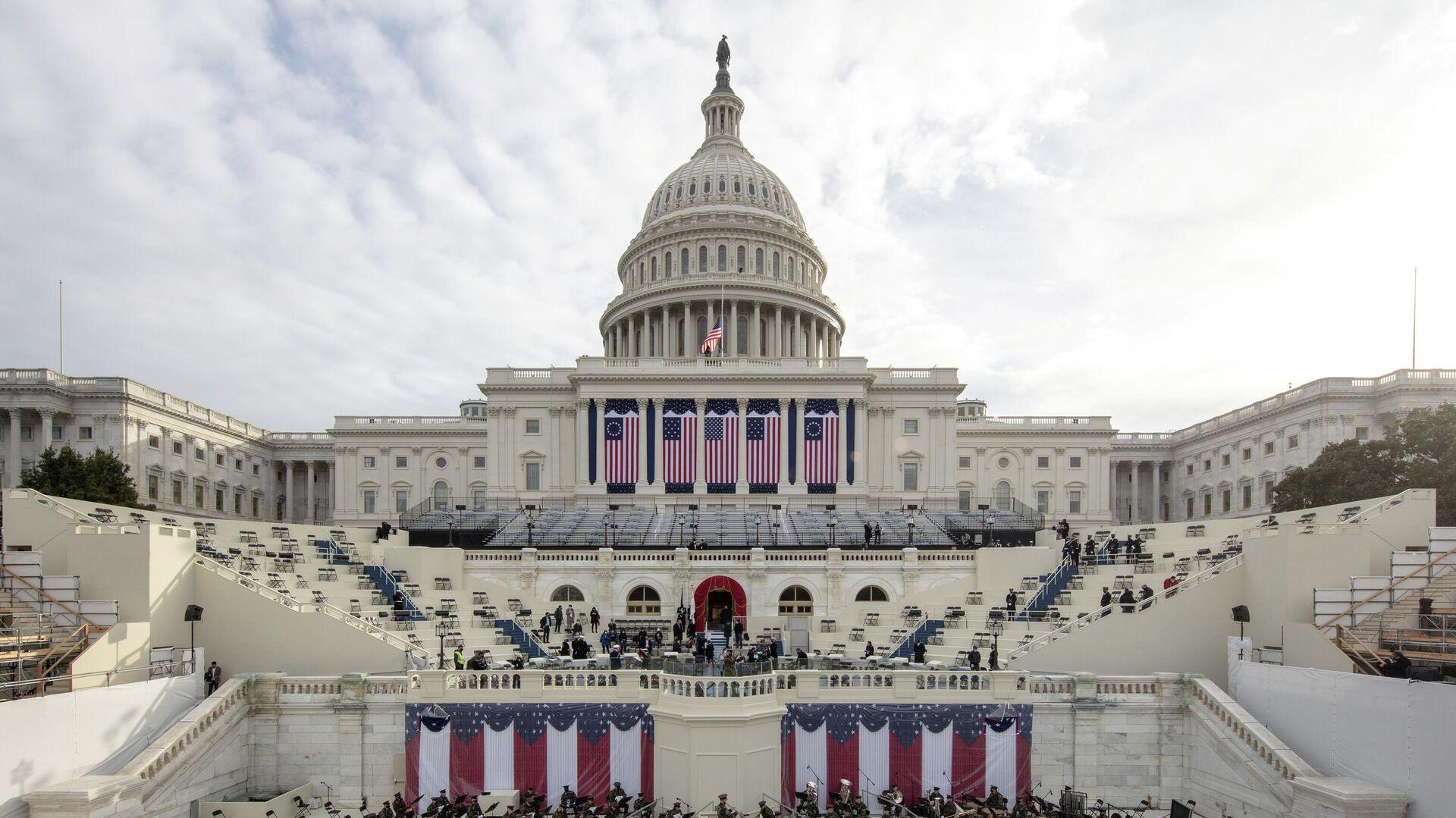 Подготовка к генеральной репетиции инаугурации избранного президента США Джо Байдена в Вашингтоне, округ Колумбия - РИА Новости, 1920, 04.02.2021