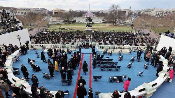 Гости перед началом инаугурации Джо Байдена в Вашингтоне