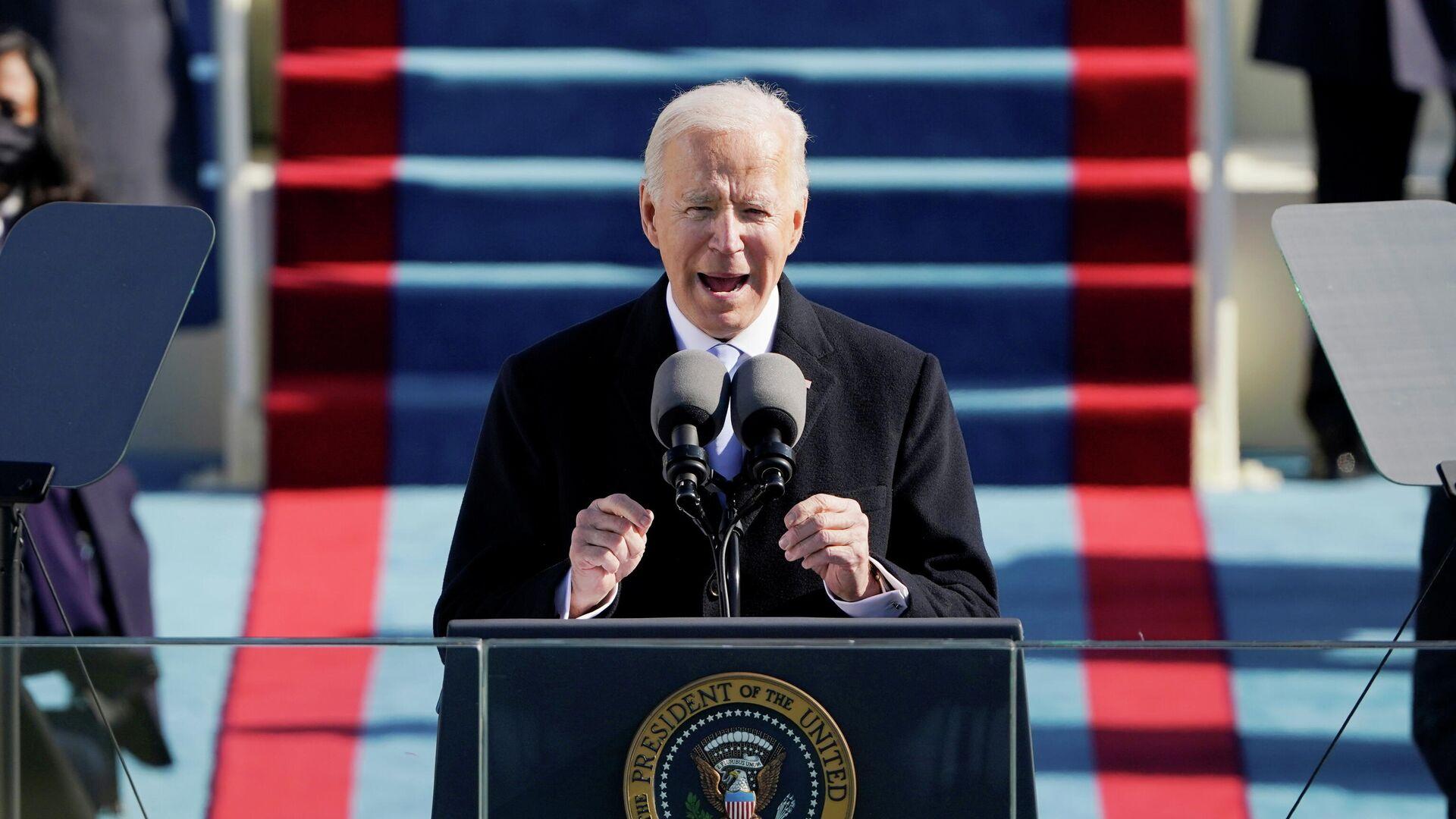 Джо Байден произносит речь, после вступления в должность президента США - РИА Новости, 1920, 20.01.2021