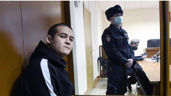 Солдат-срочник Рамиль Шамсутдинов на заседании 2-го Восточного окружного военного суда в Чите