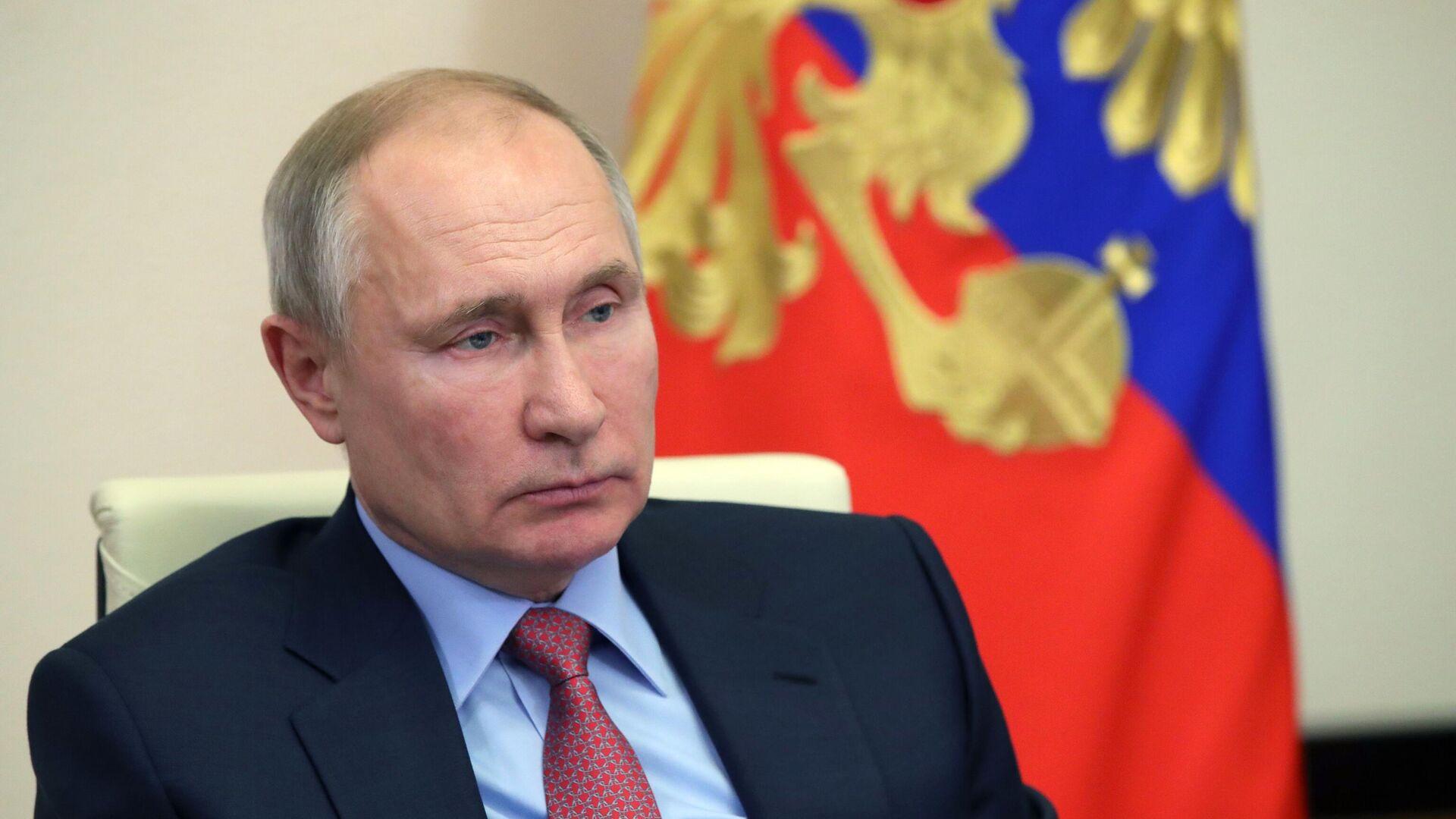 Президент РФ Владимир Путин проводит в режиме видеоконференции совещание по экономическим вопросам - РИА Новости, 1920, 22.01.2021