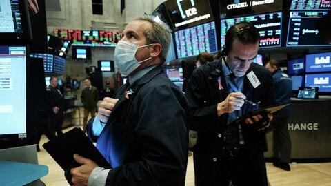 Трейдеры на площадке Нью-Йоркской фондовой биржи