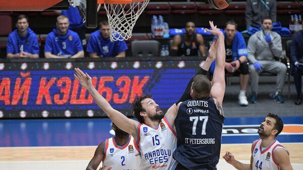 Баскетбол. Евролига. Матч Зенит – Анадолу Эфес