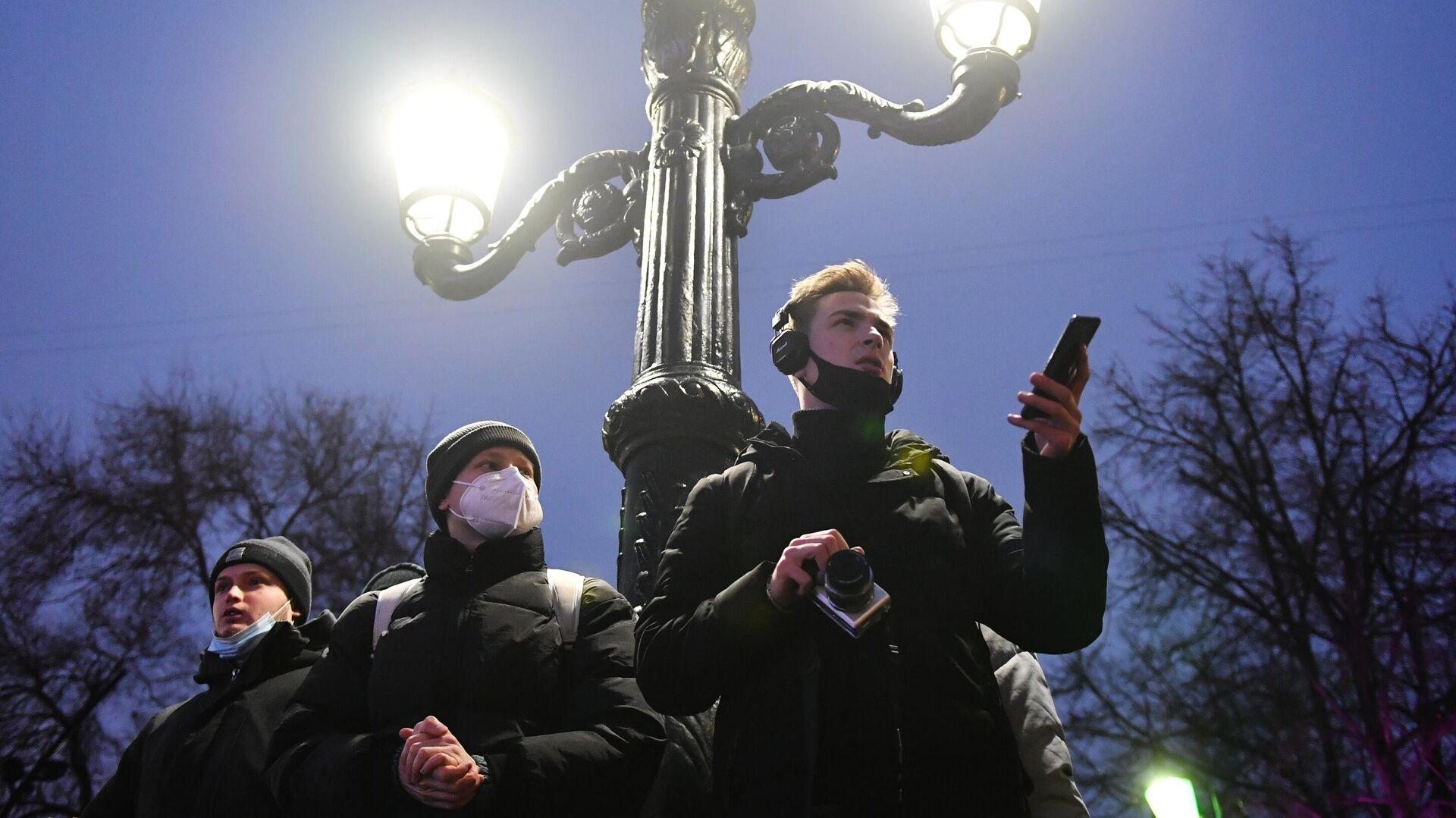 Несанкционированные акции сторонников А. Навального - РИА Новости, 1920, 27.01.2021