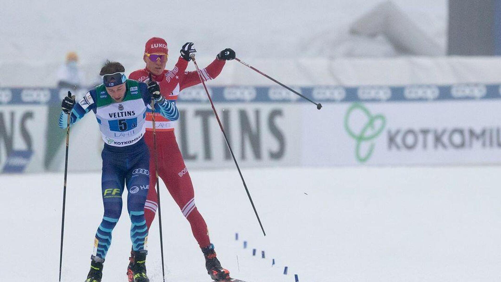 Инцидент между финским лыжником Йони Маки и Александром Большуновым - РИА Новости, 1920, 25.01.2021