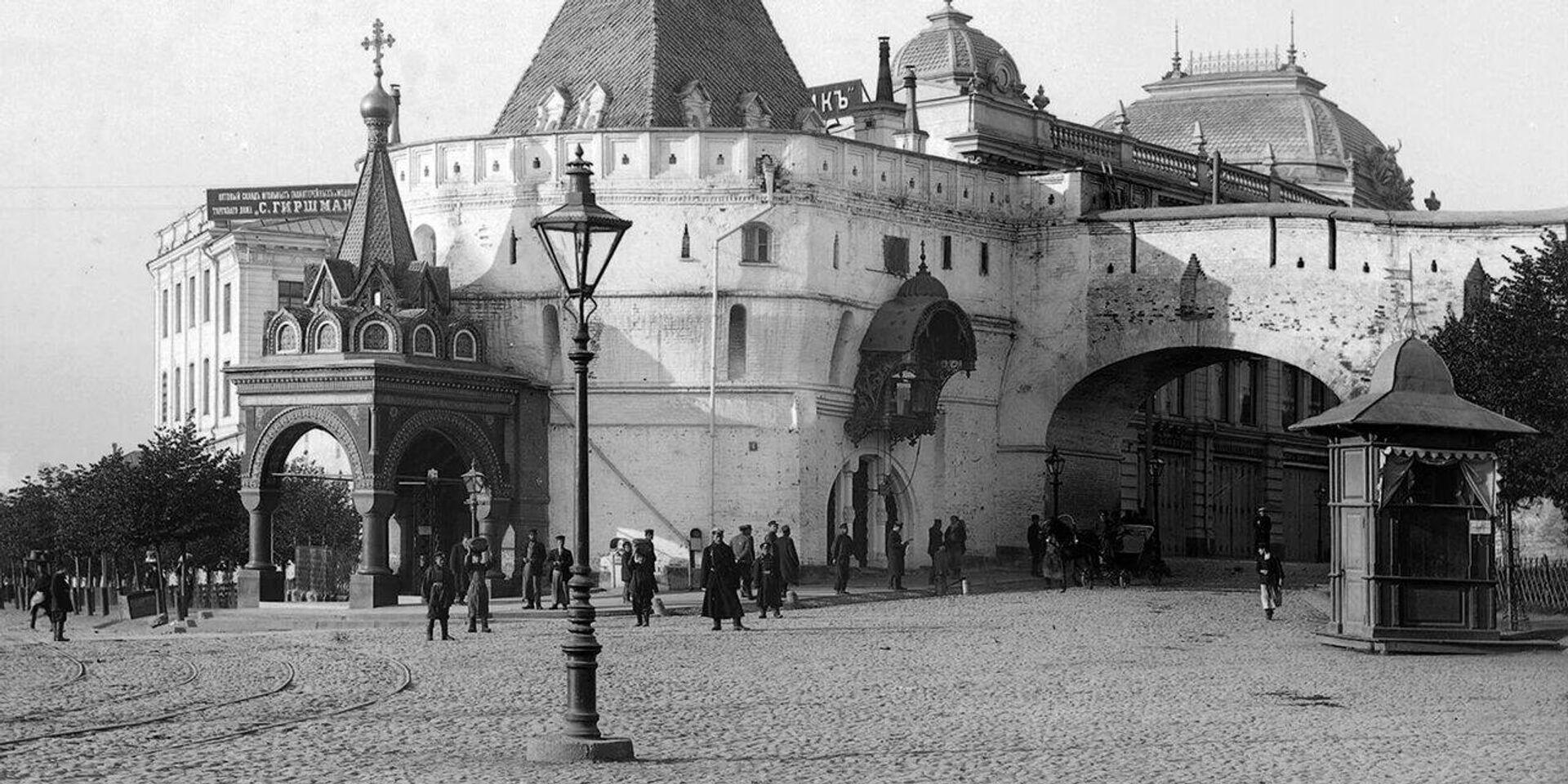 Исторический фонарь в Москве - РИА Новости, 1920, 25.01.2021