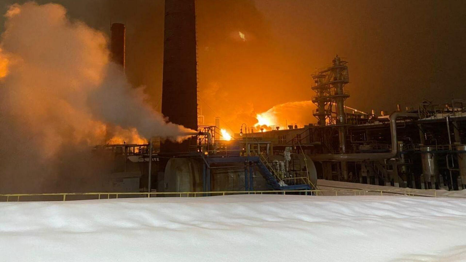 Пожар на заводе в Уфе локализовали