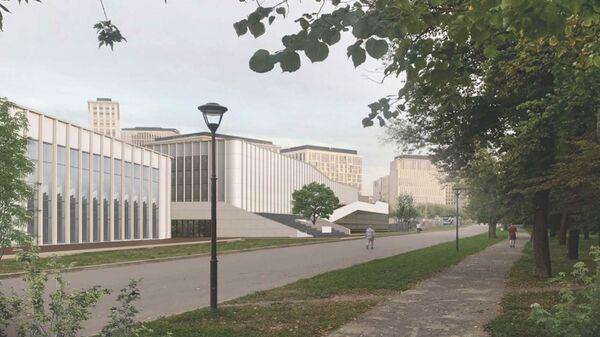 Облик тренировочного комплекса с ледовой ареной на территории стадиона ВТБ Арена