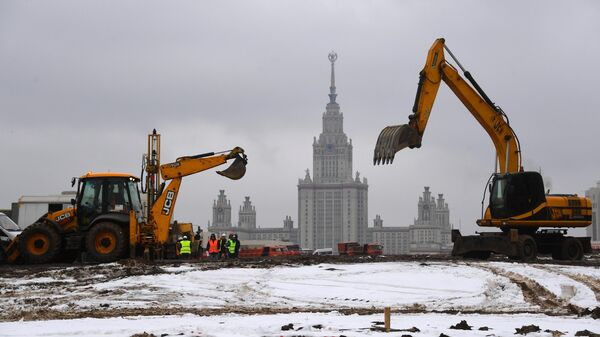 Строительство инновационной научно-технологической долины МГУ Воробьёвы горы