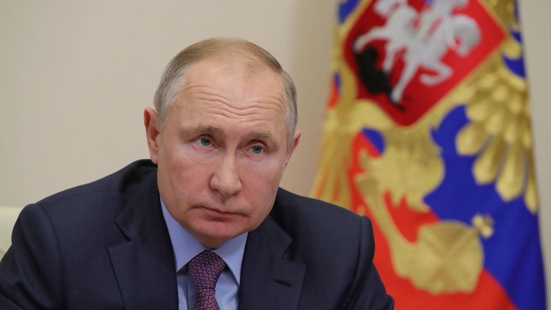Президент РФ Владимир Путин проводит в режиме видеоконференции совещание с членами правительства РФ - РИА Новости, 1920, 02.02.2021