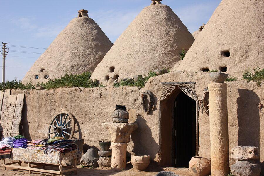 Дома-ульи в древнем городе Харран в турецкой провинции Шанлыурфа