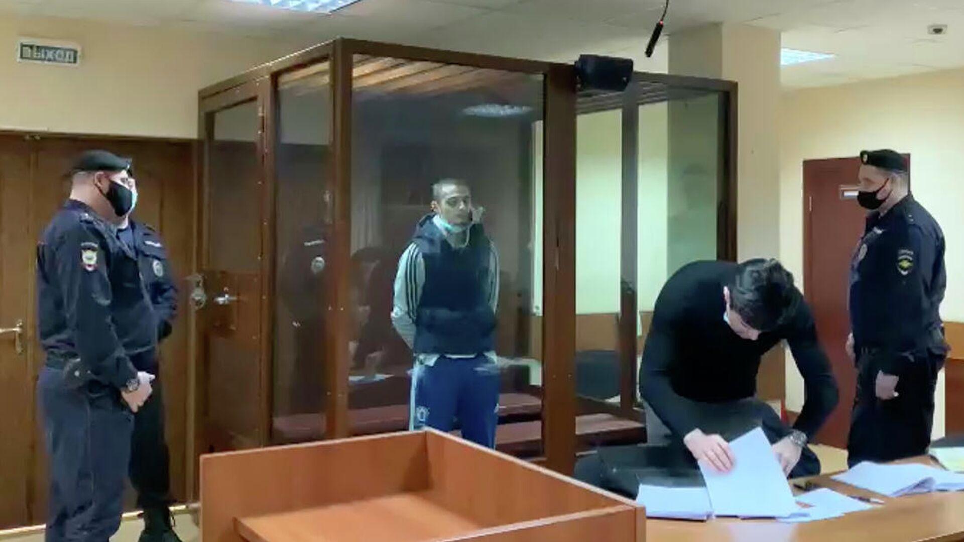 Сайд-Мухамад Джумаев в суде. Кадр видео - РИА Новости, 1920, 28.01.2021