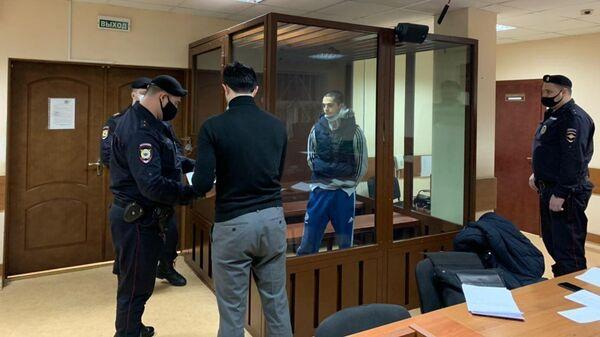 Сайд-Мухаммад Джумаев, задержанный за драку с сотрудниками ОМОН на несогласованной акции в Москве 23 января, на заседании Пресненского районного суда