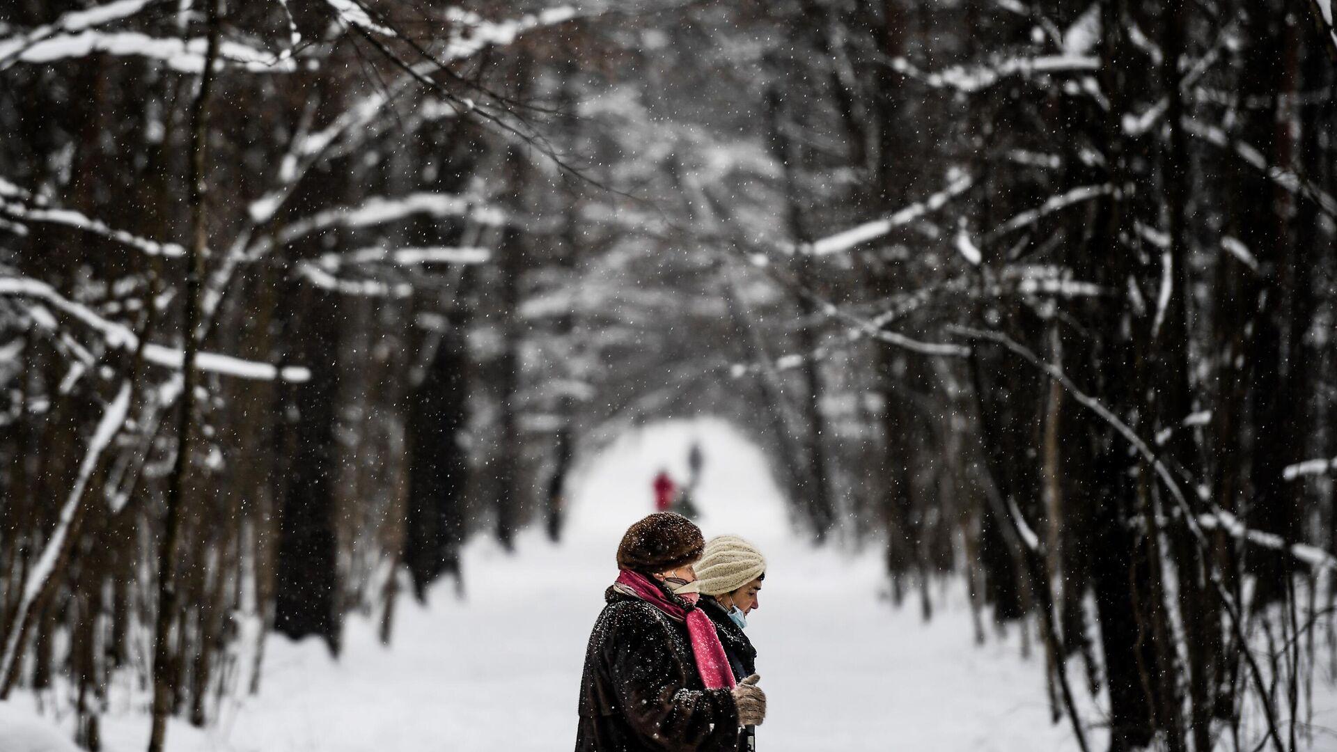 Зима в Москве - РИА Новости, 1920, 01.02.2021