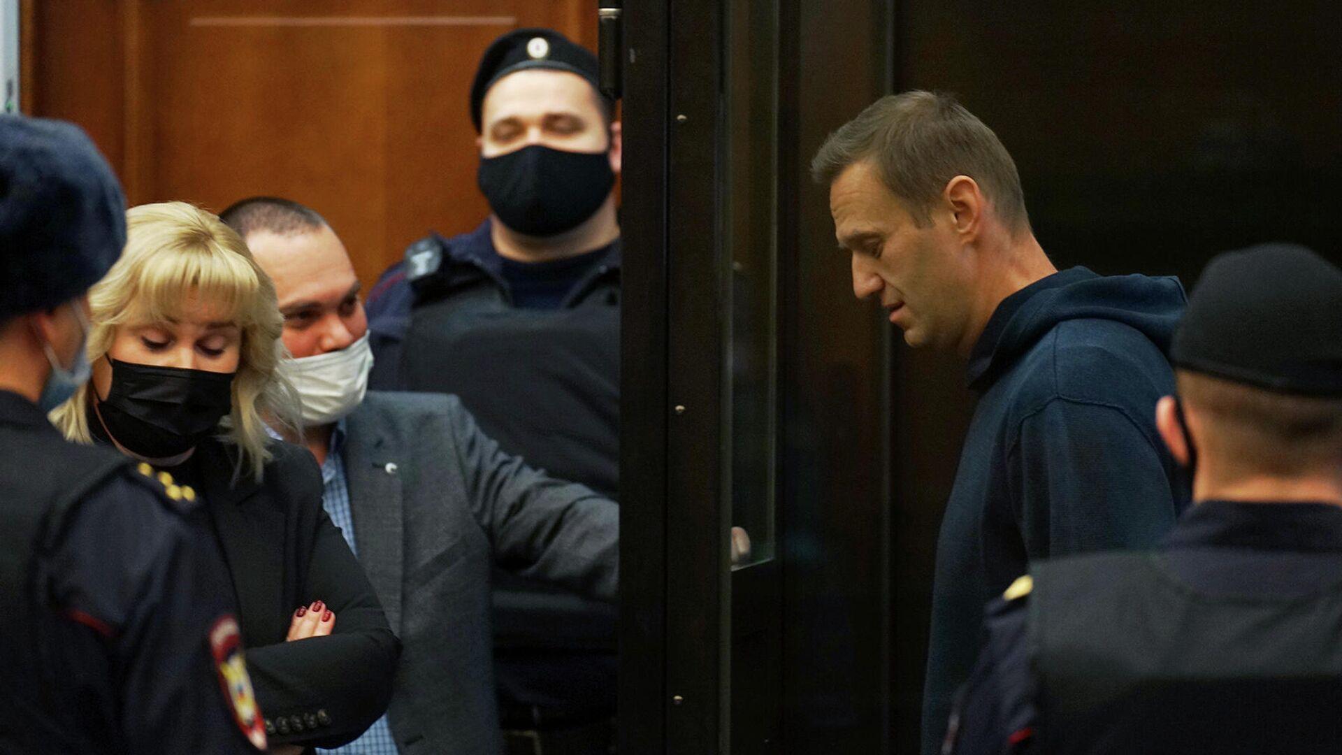 Алексей Навальный во время заседания Мосгорсуда - РИА Новости, 1920, 02.02.2021