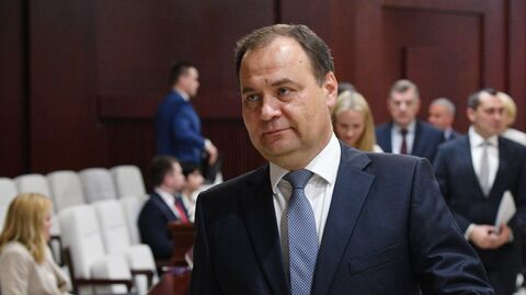 Председатель правительства Белоруссии Роман Головченко на заседании Палаты представителей парламента