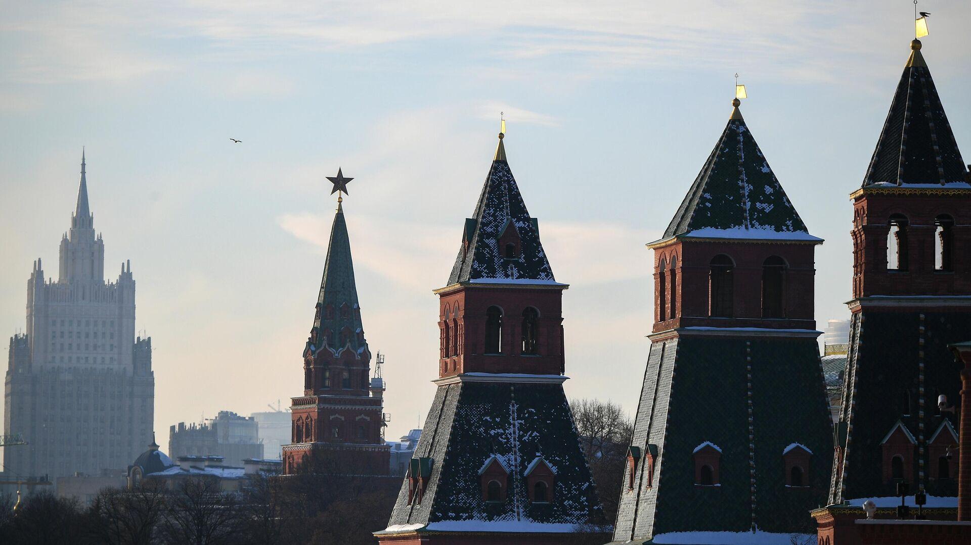 Кремлевские башни в Москве - РИА Новости, 1920, 26.02.2021