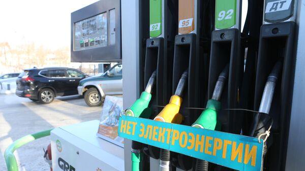 Заправочные пистолеты на АЗС сети ННК в Хабаровске