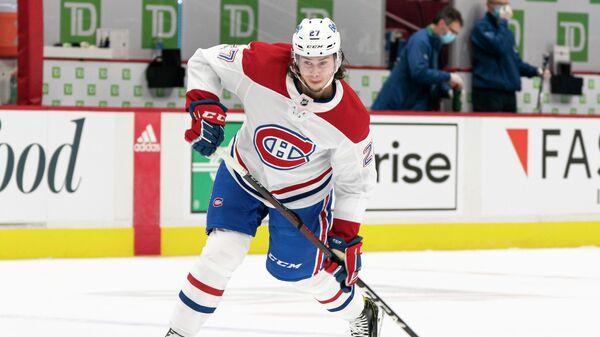 Защитник клуба НХЛ Монреаль Канадиенс россиянин Александр Романов