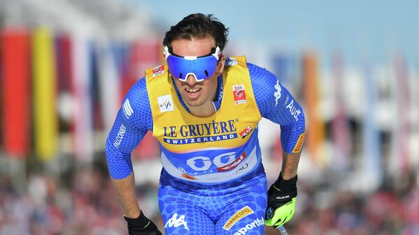 Italy's Francesco De Fabiani competes in the Men's 15km cross-country (classic) event at the FIS Nordic World Ski Championships on February 27, 2019 in Seefeld, Austria. (Photo by JOE KLAMAR / AFP)