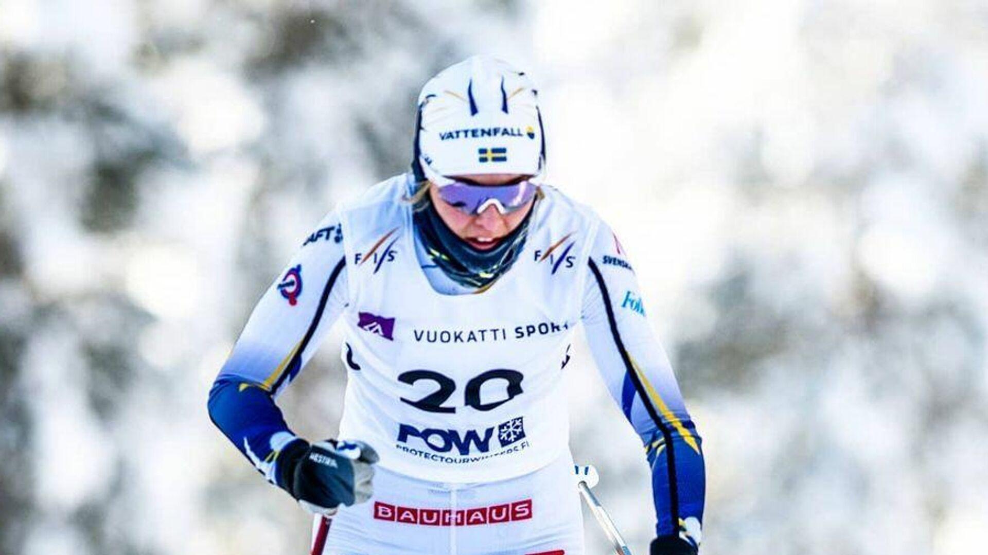 Шведская лыжница Луиза Линдстрём - РИА Новости, 1920, 11.02.2021