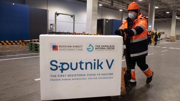 Доставка вакцины Sputnik V на склад в грузовой терминал Москва Карго
