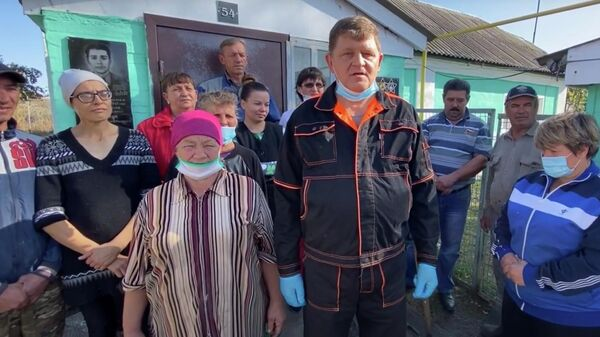 Обращение жителей деревни Натальино к властям. Стоп-кадр видео
