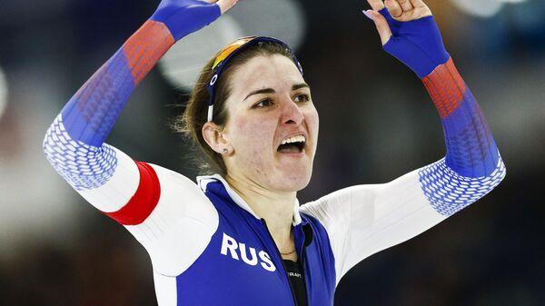 Российская конькобежка Ангелина Голикова.