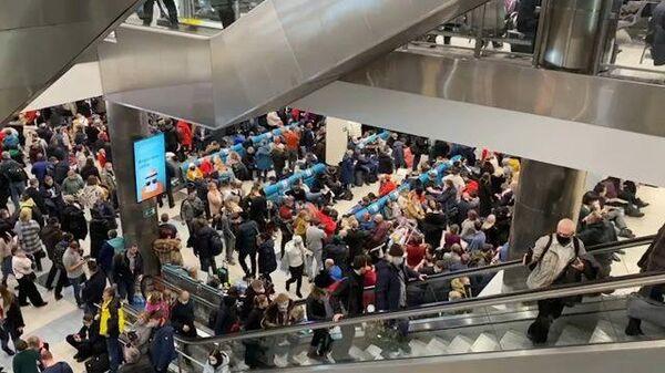 Задержка рейсов: снегопад парализовал работу аэропорта Домодедово