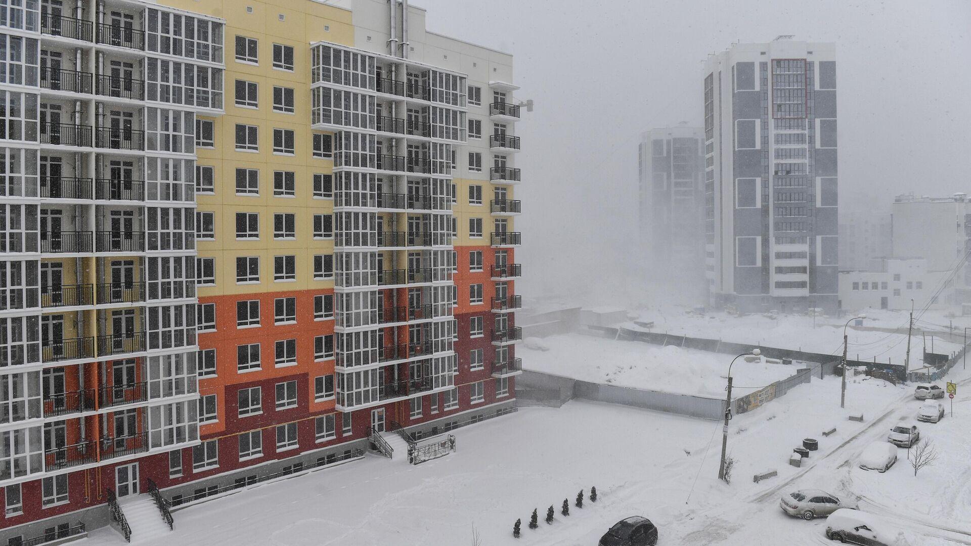 Сильный снегопад в Крыму - РИА Новости, 1920, 19.02.2021