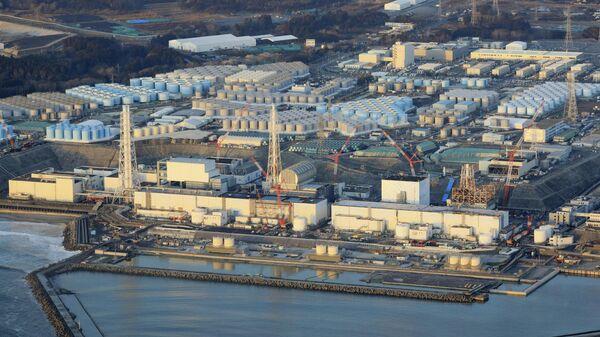 Атомная электростанция Фукусима-дайити в городе Окума, префектура Фукусима. 14 февраля 2021 года