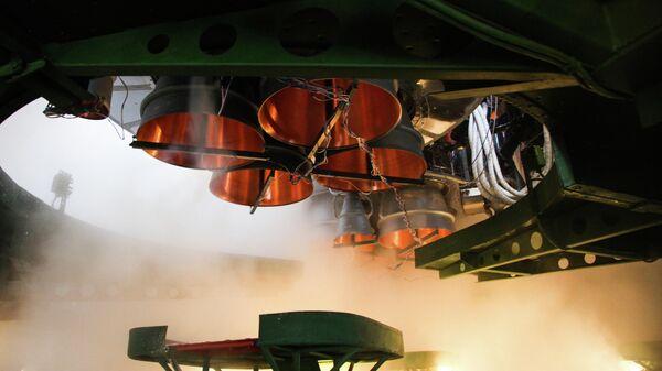 Пуск ракеты-носителя Союз-2.1а с грузовым кораблем Прогресс МС-16 c космодрома Байконур