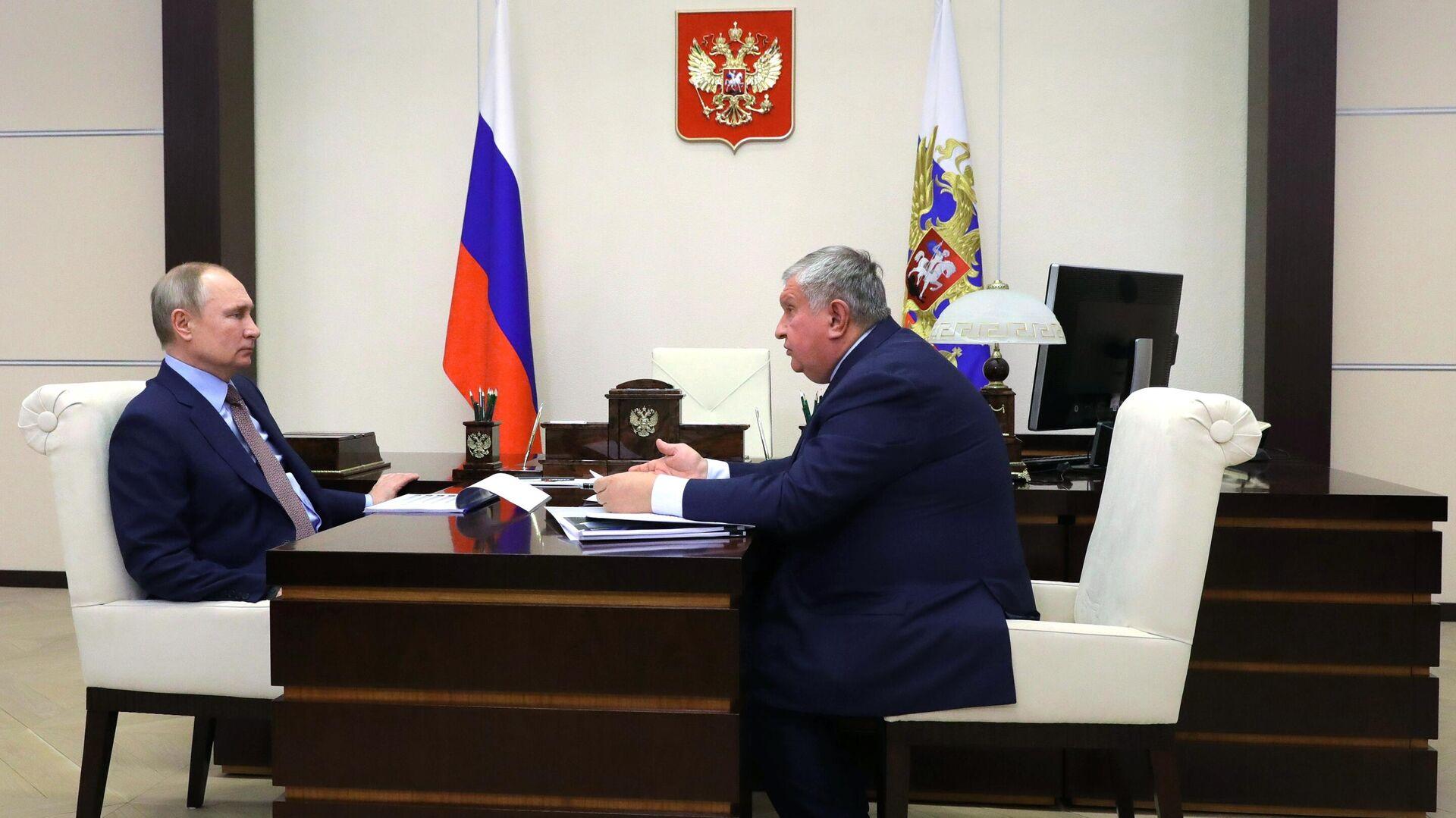 """Путин и Сечин обсудят показатели """"Роснефти"""" за прошлый год"""