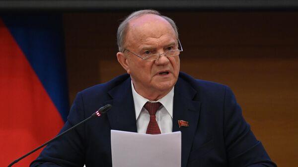 Руководитель фракции политической партии Коммунистическая партия РФ в Госдуме РФ Геннадий Зюганов