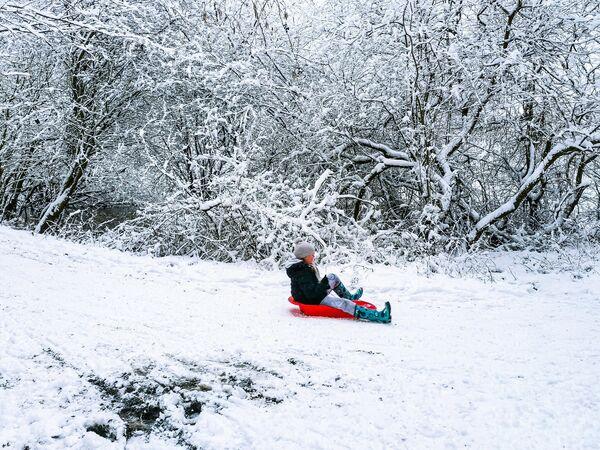 Снег в Англии