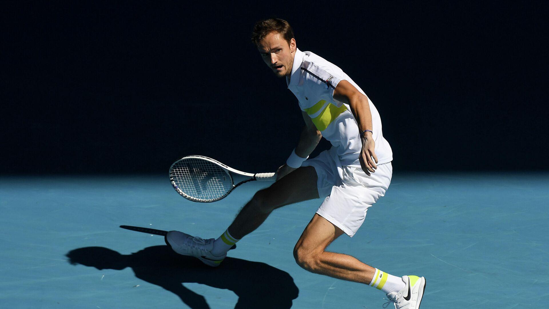 Даниил Медведев в четвертьфинальном матче Открытого чемпионата Австралии 2021 - РИА Новости, 1920, 17.02.2021